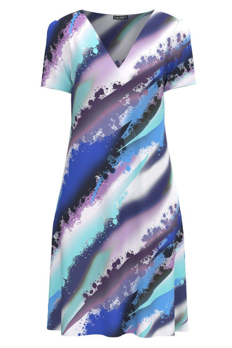 Rochie casual lejera de vara imprimată multicolor CMD981