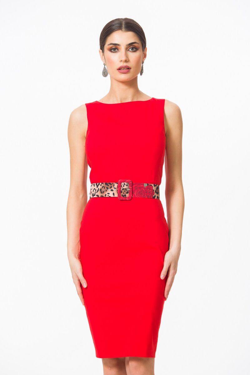 rochie DAMES de craciun rosie eleganta