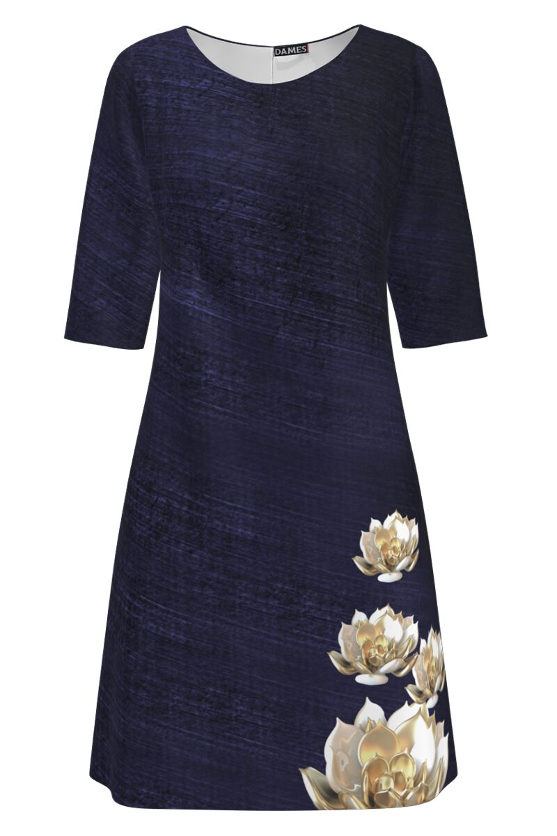 Rochie DAMES  casual bleumarin imprimata floral