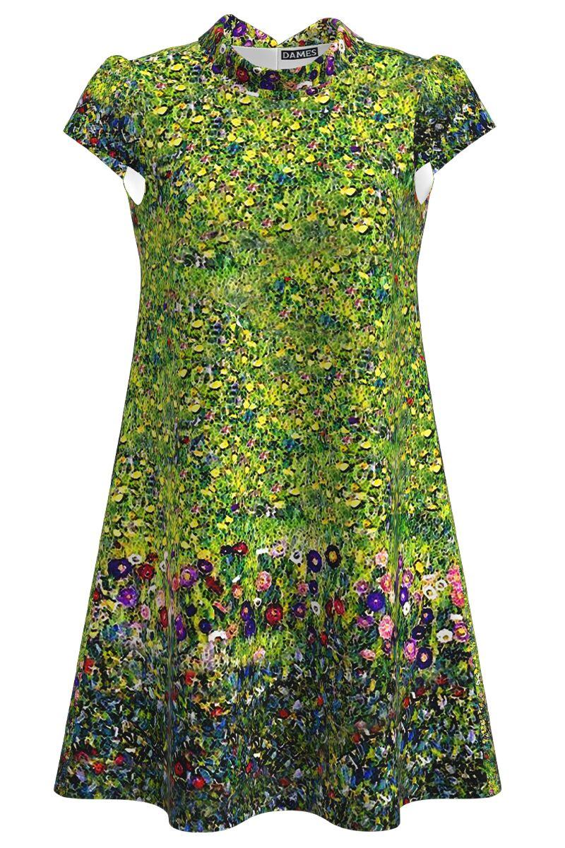 Rochie casual cu imprimeu digital floral CMD1087