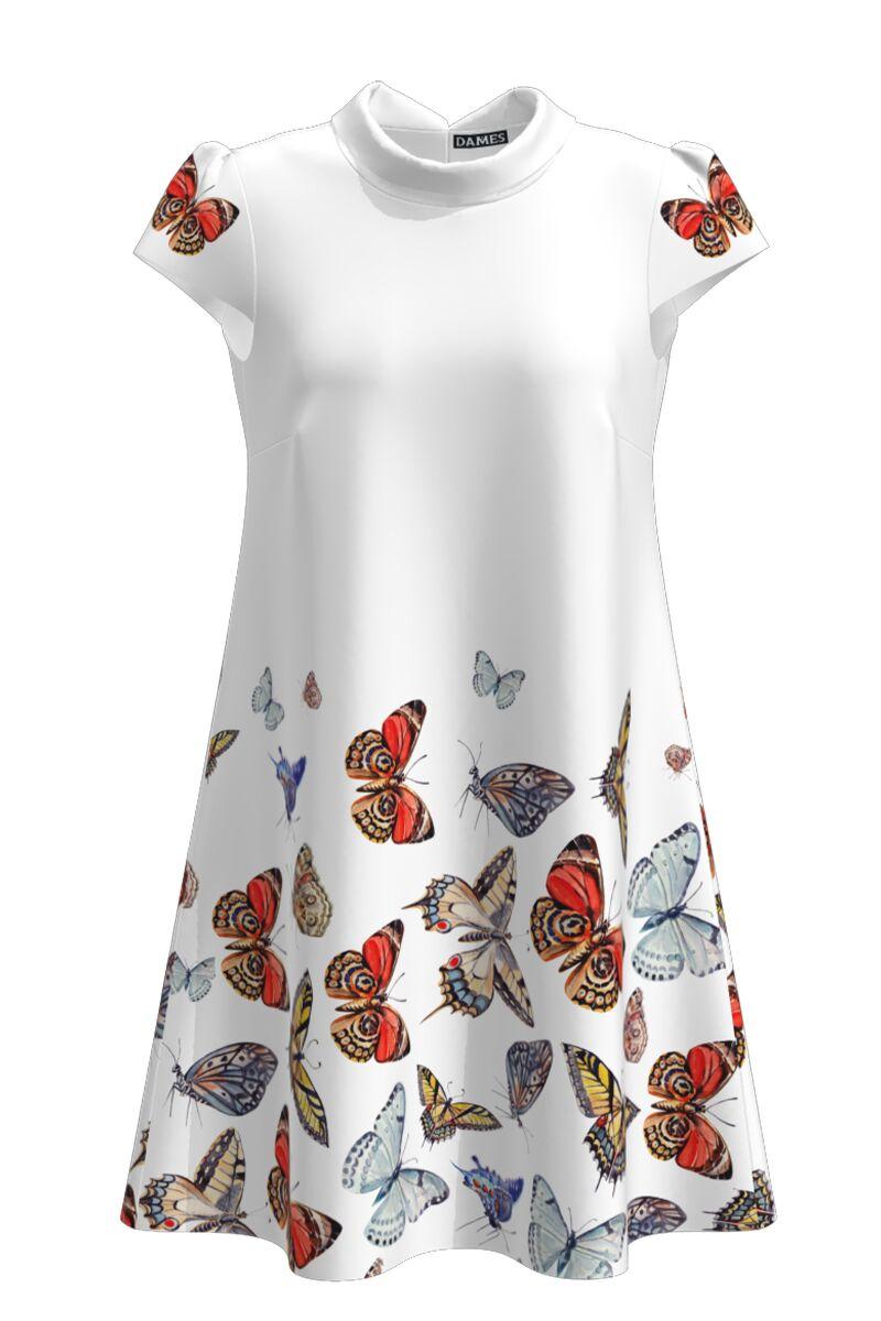 rochie DAMES casual cu imprimeu fluturi