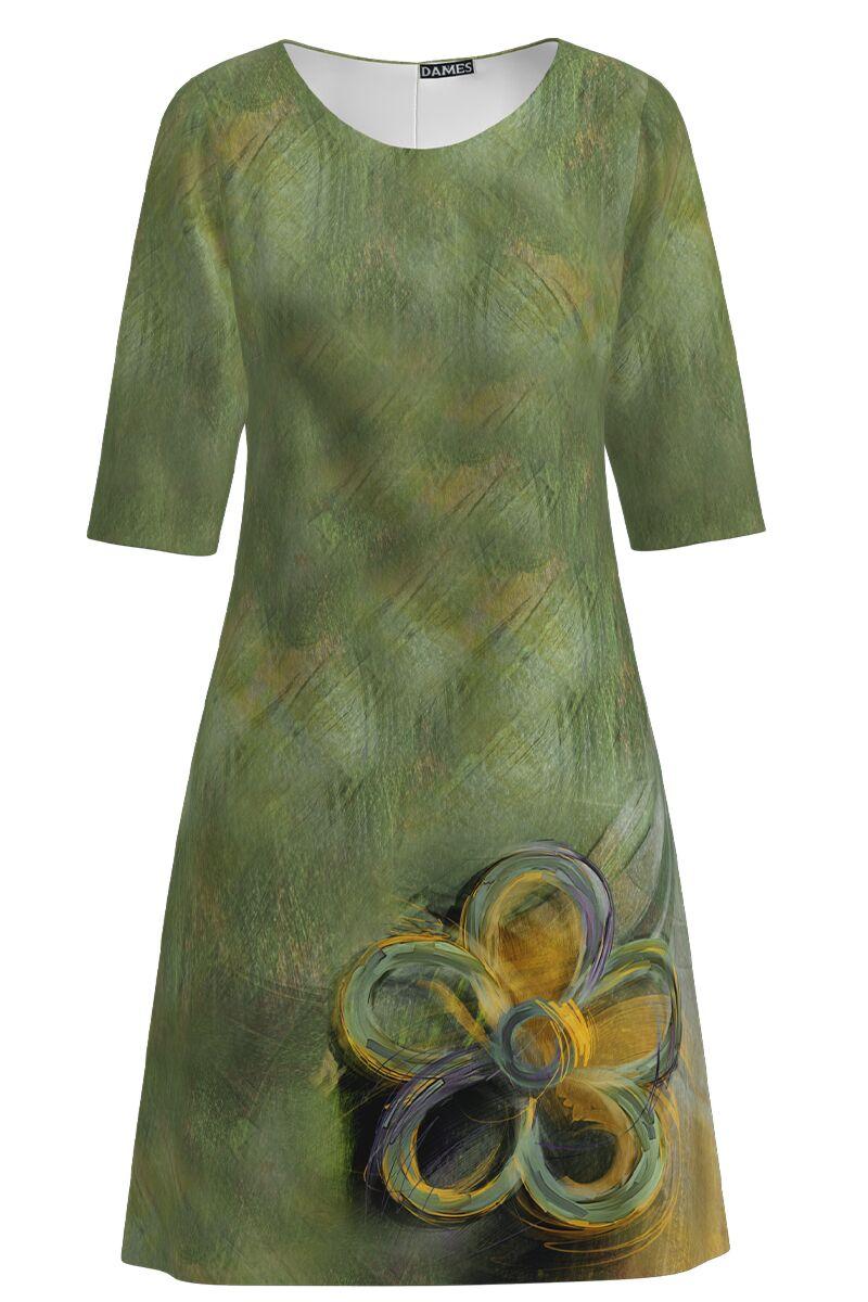 Rochie DAMES  casual cu maneca imprimata digital model floral
