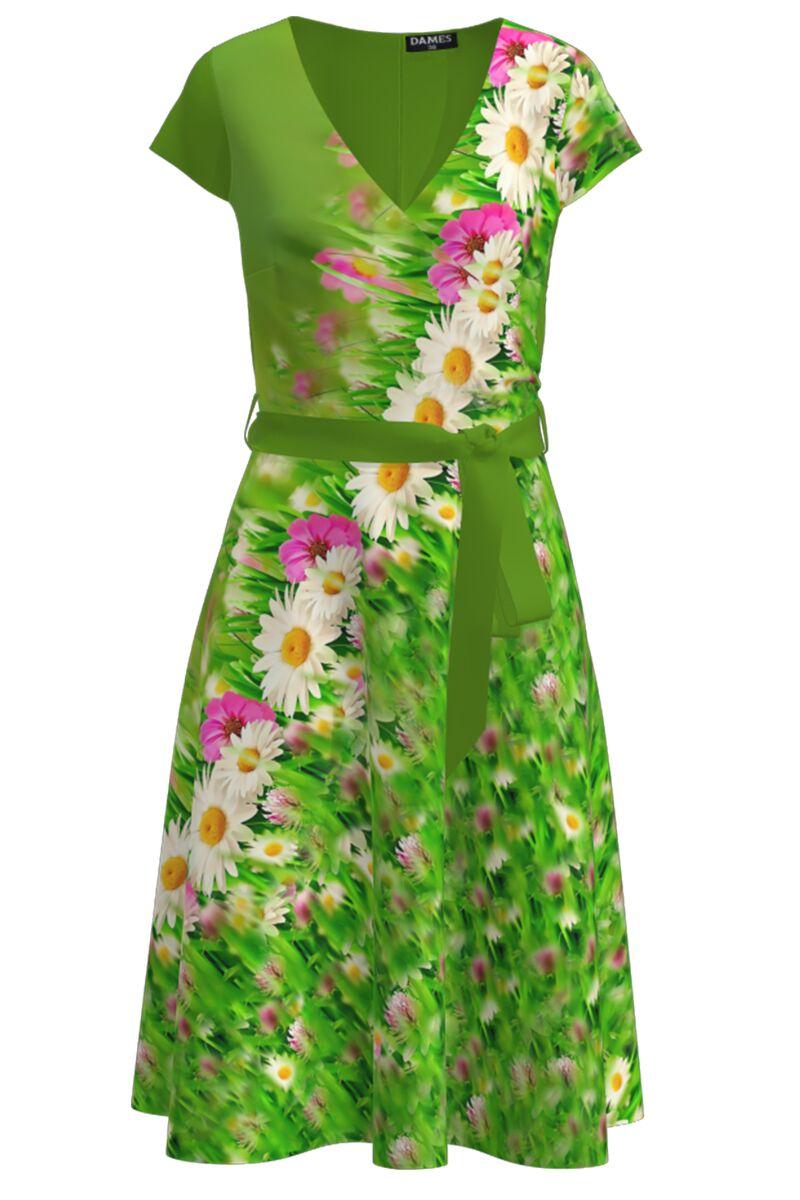 Rochie casual de vara cu maneca scurta si imprimeu Floral CMD1021