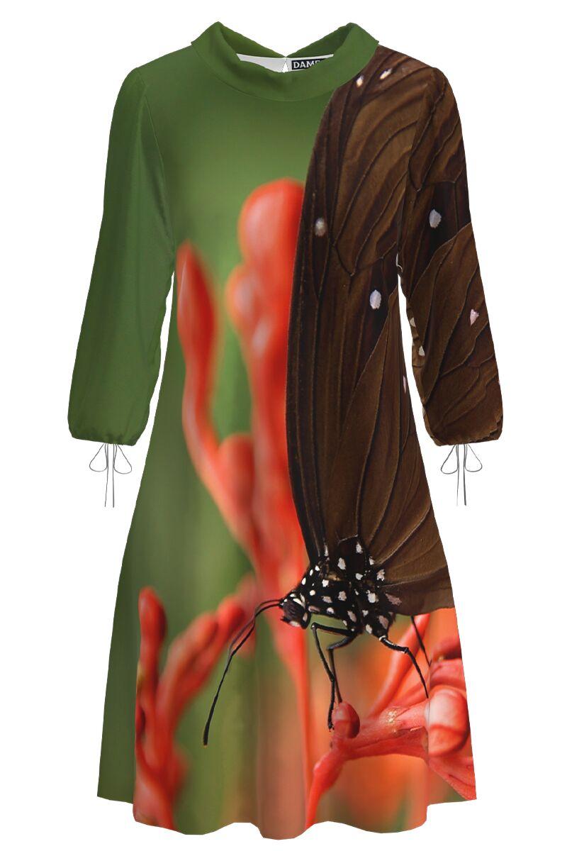 Rochie DAMES  casual multicolora cu imprimeu fluture