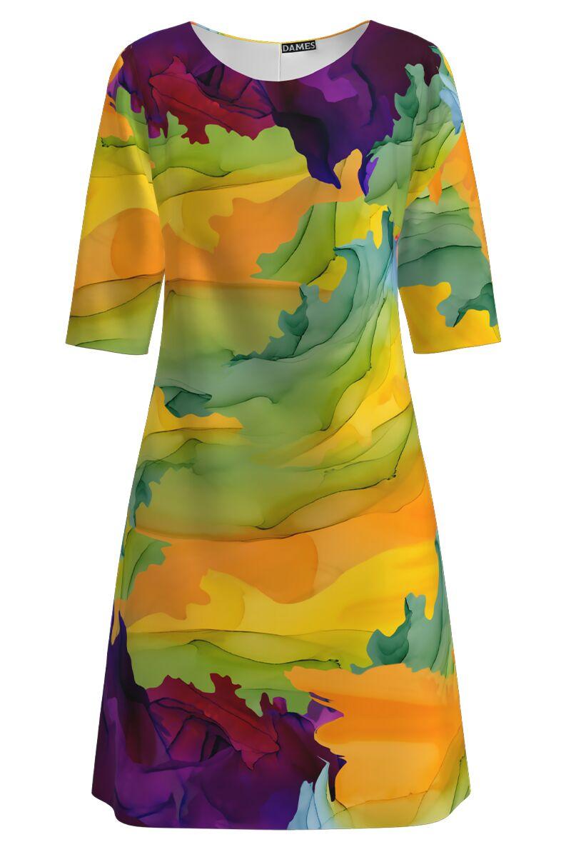 Rochie DAMES casual multicolora imprimata digital