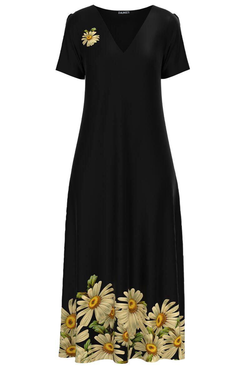 Rochie de vara lunga cu buzunare imprimata digital Margarete CMD1016