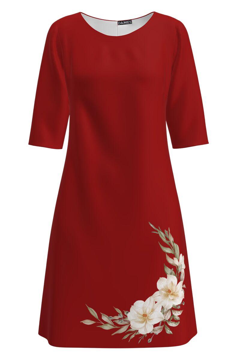 Rochie DAMES  rosie casual imprimata cu model floral