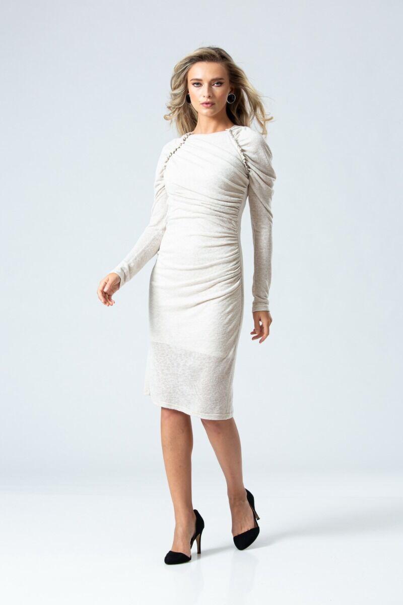Rochie eleganta PREMIUM cu pliuri DP050