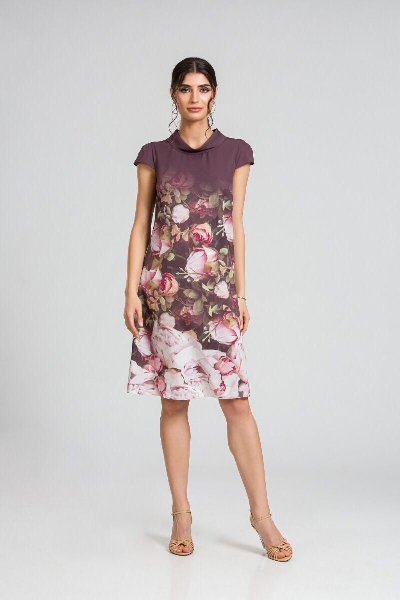 Rochie casual cu imprimeu digital floral CMD94