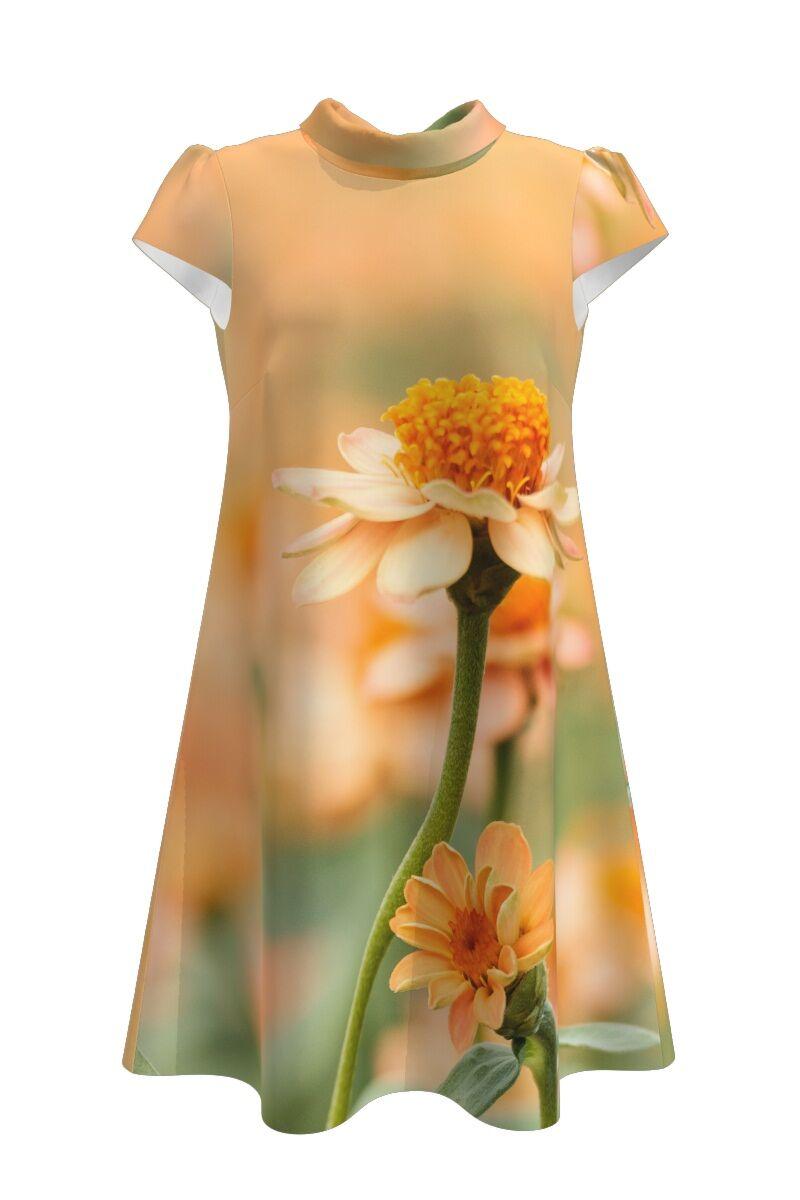 Rochie casual  imprimeu digital floral CMD111