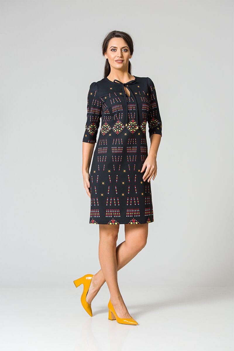 rochie DAMES  imprimata cu motive traditionale romanesti