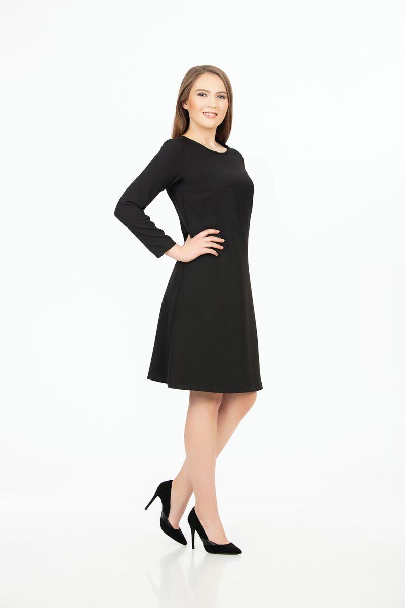 rochie DAMES neagra office cu maneca lunga