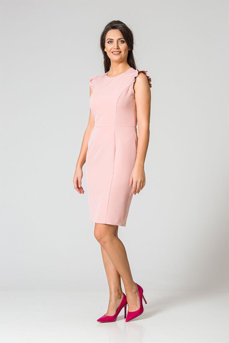 Rochie DAMES roz pal office