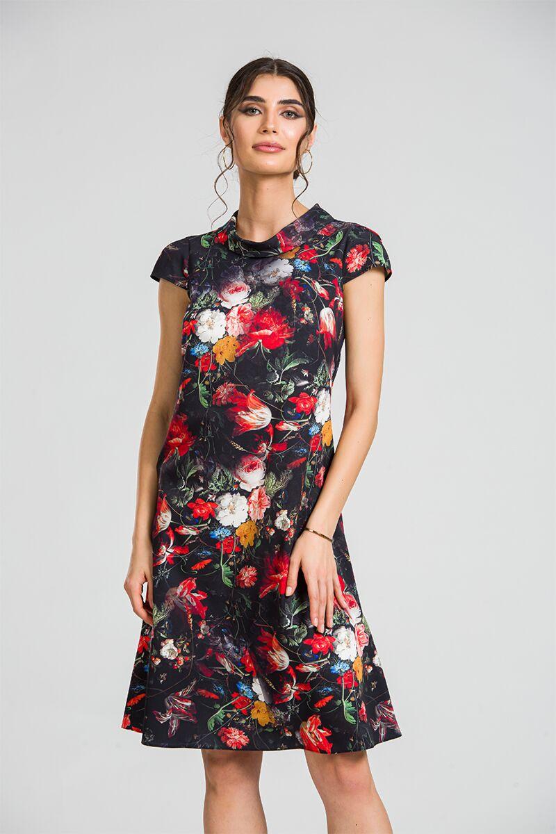 Rochie casual  imprimeu digital floral CMD87