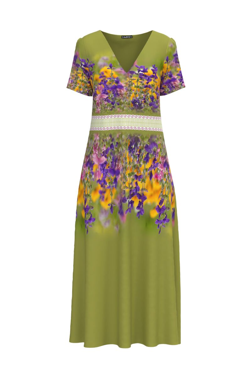 Rochita dames  de vara cu buzunareimprimata cu model floral