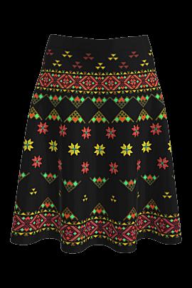 Fustă DAMES clos, imprimatacu motive tradiționale românești