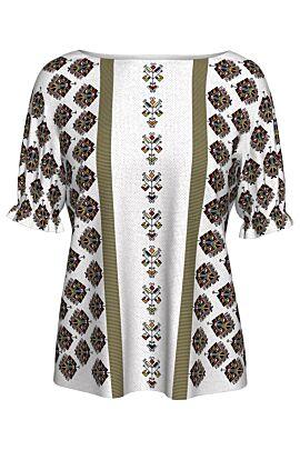 Bluză imprimată tip ie Bucovina A842MC40