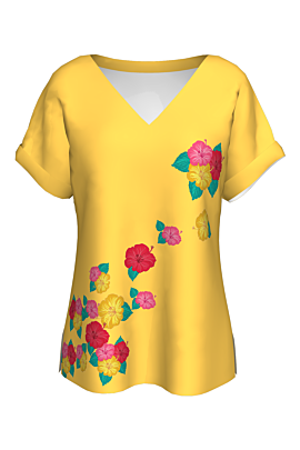 Bluză imprimata digital floral CMDB58
