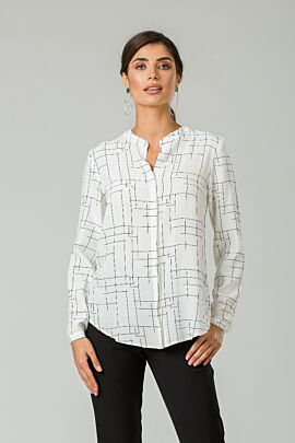 Bluza din vascoza cu guler tunică CMD251