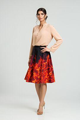 Bluza eleganta cu guler tunica si nasturi DM186