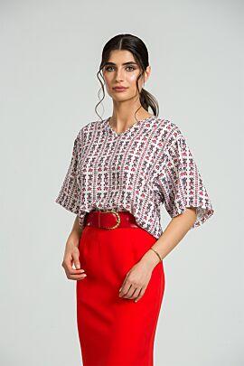 bluza DAMES  oversize cu imprimeu traditional
