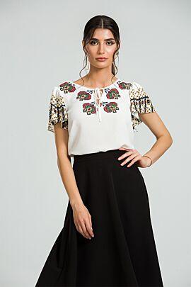 bluza DAMES cu imprimeu traditional romanesc