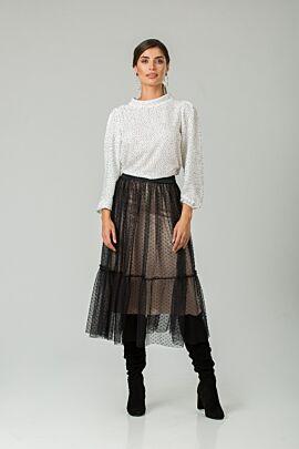 fusta DAMES  eleganta de craciun din tulle negru