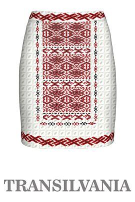 Fustă imprimată cu motive tradiționale, Transilvania1,A843T1
