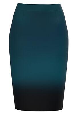 Fusta conica verde imprimata in degrade CMD1272