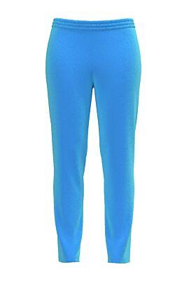 Pantaloni  DAMES bleu din catifea cu buzunare