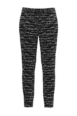 Pantaloni DAMES negri cu dungi din catifea cu buzunare