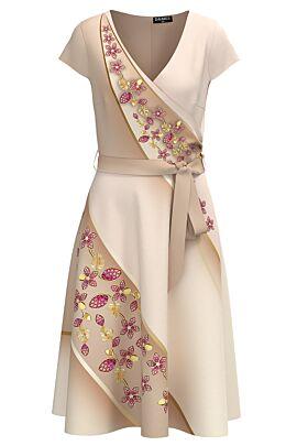 Rochie casual de vara cu maneca scurta si imprimeu Floral CMD1260