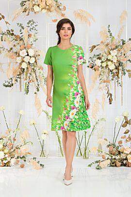 rochie DAMES casual verde de vara imprimata floral