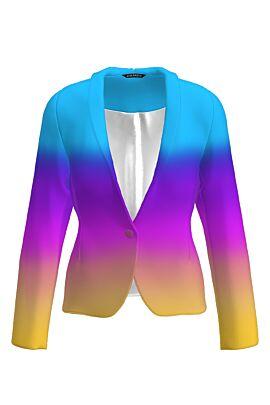 Sacou casual multicolor imprimat digital CMD1268