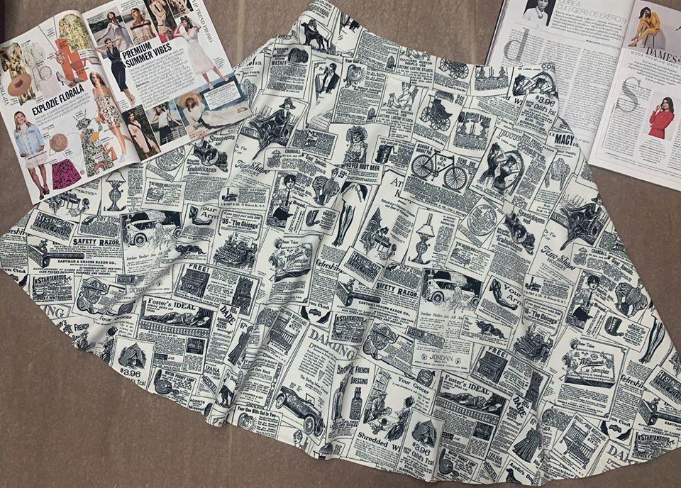 dames newspaper print